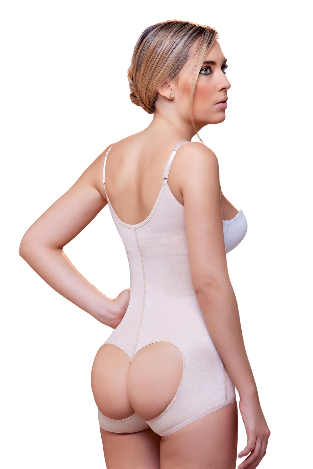8332c5742db Open Bottom Body Shaper w  Front Closure · Larger Photo ...