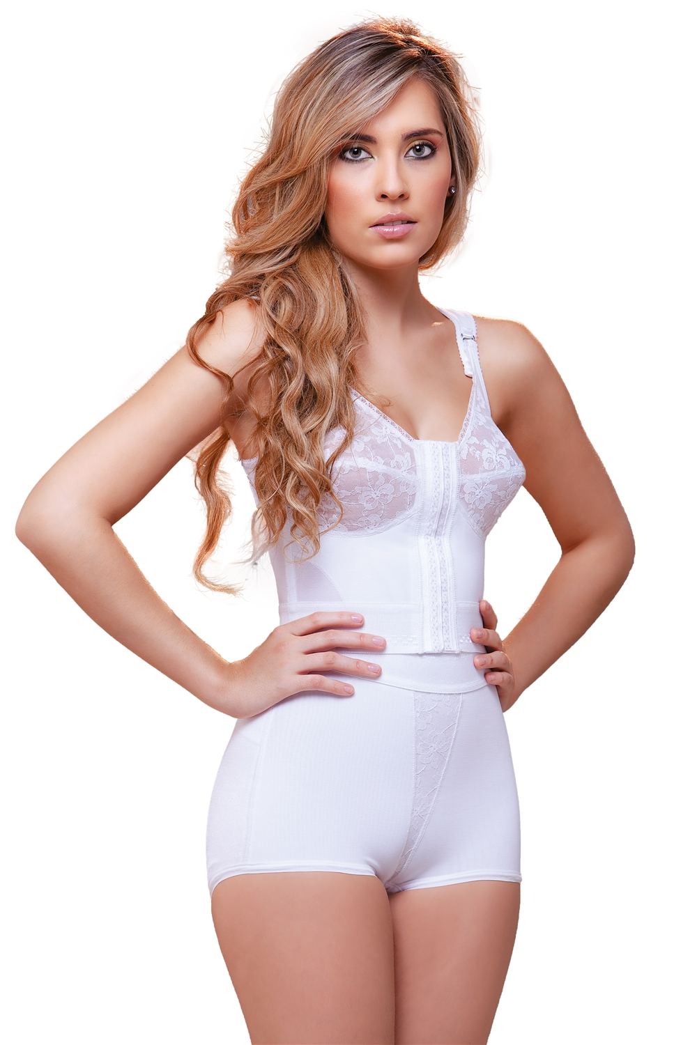 Front Close Longline With Back Support Bra-3803